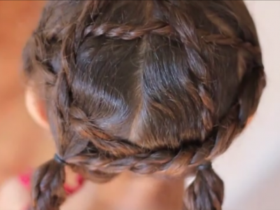 A Curly Hairstyle for the Fourth of July