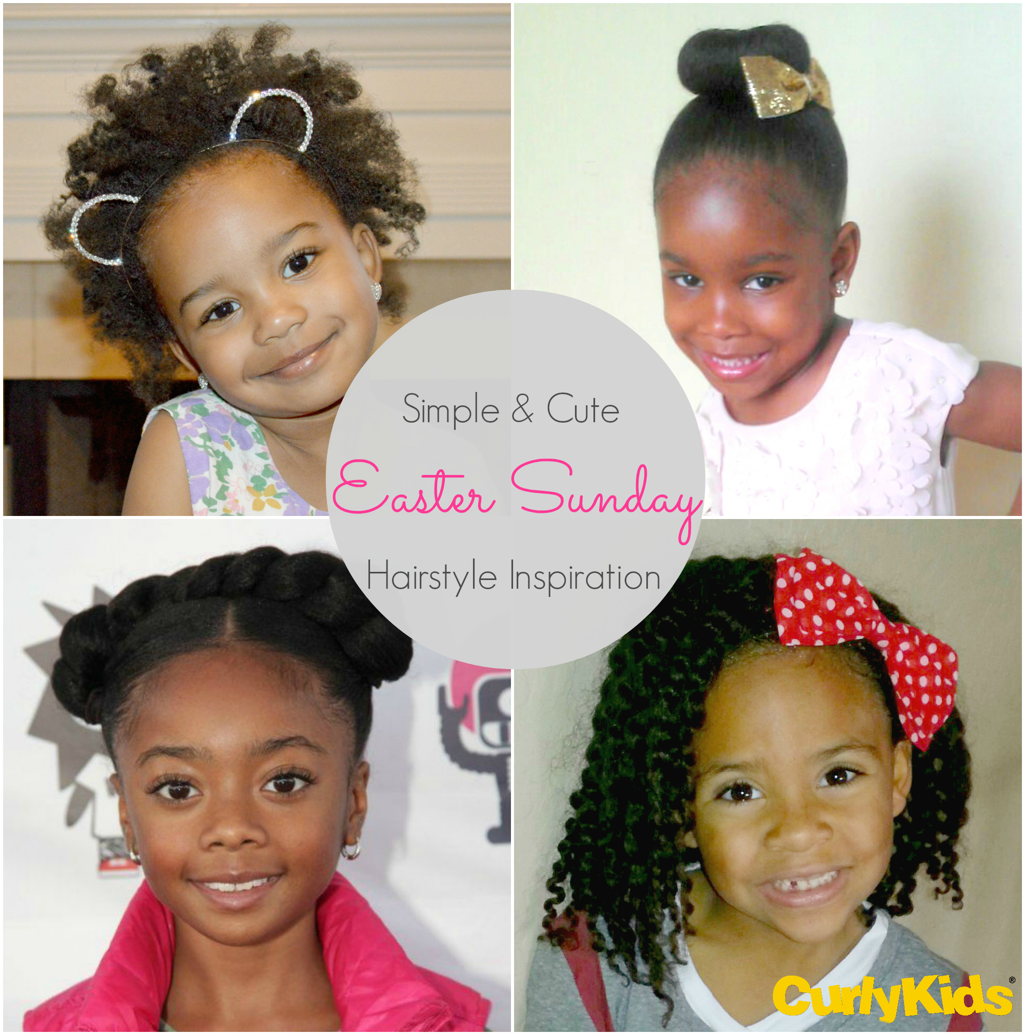 Awesome Simple And Cute Easter Sunday Hairstyle Inspiration Curlykids Hairstyles For Women Draintrainus